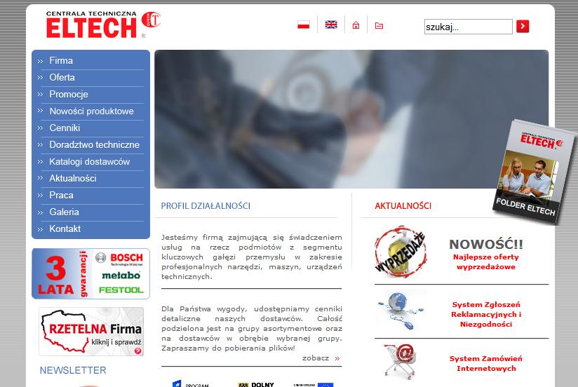 Obsługa i administracja eltech.com.pl