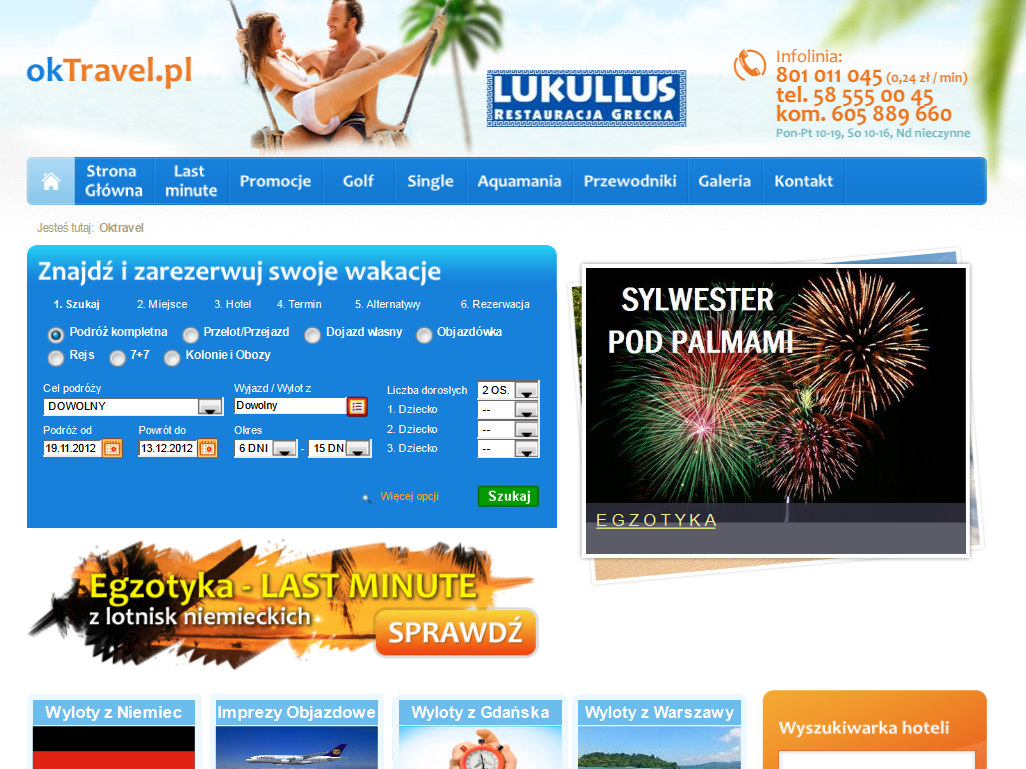 Portal turystyczny oktravel.pl